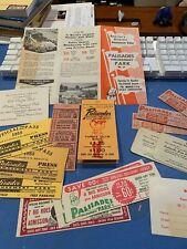 EPHEMERA- Large lot of 1950's  PALISADES AMUSEMENT PARK materials  NM condition