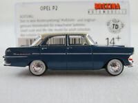Brekina 20191 Opel Rekord P2 Limousine (1960) in blau/hellbeige 1:87/H0 NEU/OVP
