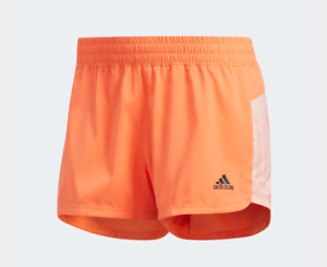 Adidas Shorts Womens XL Coral New 3 Stripes Woven Pacer Training 3 Inch Slim Fit