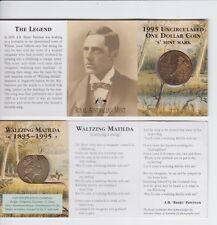 1995 Waltzing Matilda Australia $1 Coin S Mint Mark Sydney Banjo Patterson