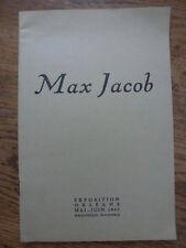 "Exposition Orléans ""MAX JACOB ""1947 catalogue n° 115 T B état"