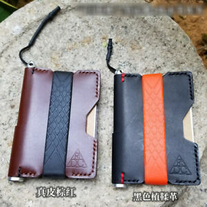 EDC Hand Made First Top Layer Cowhide Leather Notepad with Pen Recyclable Tools