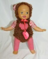 "Mattel Little Mommy Dress Up Cutie Bear 12"" Doll Baby Doll Pacificer 2013"