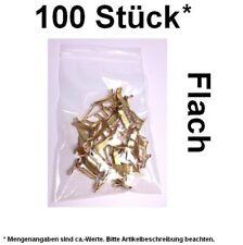 100 Stück* Flachkopfklammern Musterbeutelklammern Büchersendung Warensendung