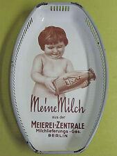 Emaile Korb Tablett - Meine Milch - Meierei Zentrale Berlin D.R.G.M.
