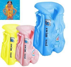 COLOURFUL INFLATABLE Swimming Vest FOR INFANTS- Inflatable Aid (50cmx43cm)
