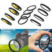 Macro Close Up Lens Filter +1+2+4+10 Filter Kit 55mm for Canon Nikon Sony