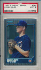 Kerry Wood Cubs ROY 1997 Bowman Chrome #183 Rookie Card rC PSA 9 Mint QUANTITY