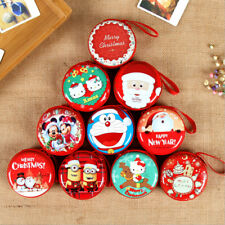 Quality Christmas Coin Purse Key Pouch Earphone Bags Zip Small Wallet Xmas 2017