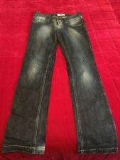 """Fornarina designer jeans size 29 style nek dark blue low rise 32"""" inside leg"""