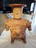 Mexican Art Terracotta Clay Pottery Man Museo Nacional de Antropologia 11.5 tall