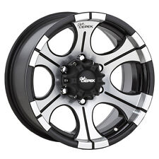 "4-NEW Dick Cepek DC2 16x8 6x139.7/6x5.5"" -12mm Black/Machined Wheels Rims"