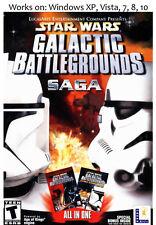STAR WARS Galactic Battlegrounds Saga PC Game Windows XP Vista 7 8 10