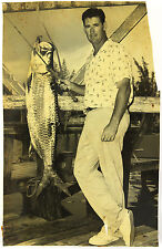 """1970's Ted Williams Original Fishing Photo, 6"""" x 9.5"""", Ted Williams Collection"""