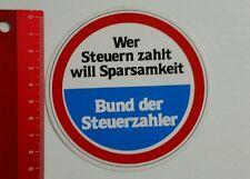 Aufkleber/Sticker: Bund der Steuerzahler (270416159)