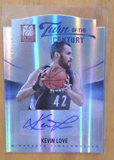 Kevin Love 2012-13 Panini Elite Turn of the Century Auto Autograph #D /25