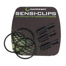 Gardner Sensi Clips & UV Resistant O-rings X 3 Carp Fishing Terminal Tackle