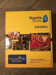 NIB Rosetta Stone Spanish/Espanol (Latin America) Version 4 - Level 1-5