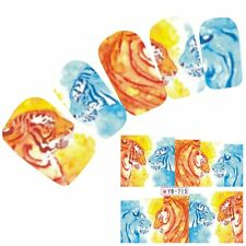Tattoo Nail Art Aufkleber Löwe Muster Tiger Leopard Lion Nagel Sticker Neu!