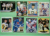 Lot of (16) NHL Rookie Stars Cards RCs Jagr Forsberg Lindros Bure Mogilny + More