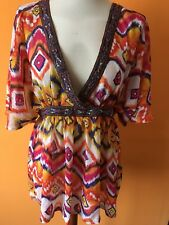 Atmosphere multi-coloured shirt tunic top  size 10/38