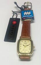NOS 1990's Citizen Ladies Leather Watch Ref. EL0602-02Q