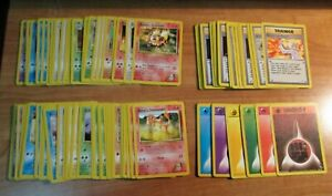 PL (Unlimited) COMPLETE Pokemon GYM HEROES 90-Card UNCOMMON/COMMON Set PLAYED