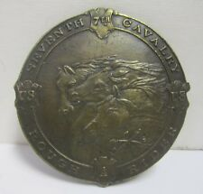 Vtg 1970s Seventh 7th Cavalry US Rough Riders A-132 Belt Buckle Horses Military