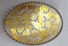 Western Scroll Fibbia della Cintura Vintage Americano Retrò Classico Retrò