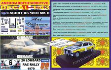 ANEXO DECAL 1/43 FORD ESCORT RS 1800 MK II ROTHMANS A.VATANEN RAC R. 1979 (04)