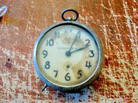 "Vintage Gilbert ""Nine"" Alarm Clock Company Winsted, Conn. 4-1/2"" Dial"