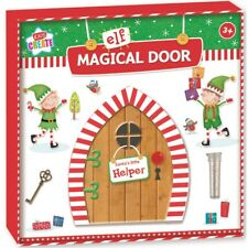 Wooden Magical Christmas Secret Elf Wall Door Decoration Children Fairy Garden