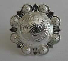 """5180-CC 3/4""""  Western Berry Style Concho Sterling Silver Plate Decorative Metal"""