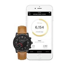 BRAND NEW MICHAEL KORS  Scout Black-Tone Leather Hybrid Smartwatch MKT4024