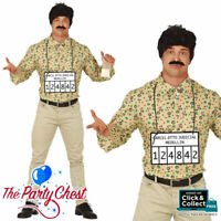 Pablo Escobar Costume Colombian Gangster Narcos Drug Lord Cartel King Shirt Wig
