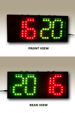 """Double-Sided Scoreboard Red/Green (5"""" digits) - Remote & Direct Control"""
