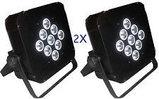 2PCS  9*18W 6in1 RGBAW+UV with BATTERY powered wireless dmx stage led UPLIGHTING