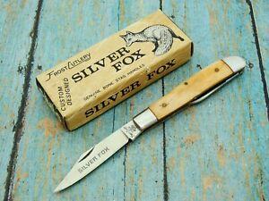 VINTAGE MINT IN BOX FROST JAPAN SILVER FOX FOLDING BONE POCKET KNIFE KNIVES