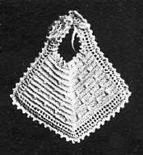 Vintage Crochet Baby Bib PATTERN (Fine thread)NOT FINISHED ITEM