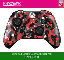 KNR6625 PREMIUM XBOX ONE CONTROLLER SKIN CAMO RED