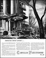 1939 Cadillac-Fleetwood Car auto V8-V16 Walter Richards art vintage print ad L79