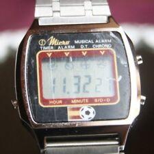 1982er Digital LCD Alarm Chronograph Herren Armbanduhr Espana 82 NOS