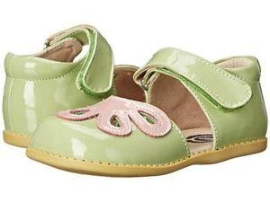 NIB LIVIE & LUCA Shoes Petals Petunia Green Pink Patent Leather 7 8 9 11 12
