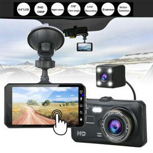 "XGODY 4"" Car DVR 1080P HD Dual Lens Dash Cam Front & Rear Camera Video Recorder"