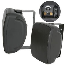 "QUALITY 5"" 100W Black Outdoor Garden Speaker*100V & 8ohm* IP44 Wall / Background"