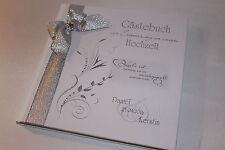 Hardcover Gästebuch zur Hochzeit , weiß - silber