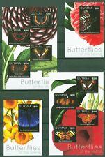 Guyana 2012 -  Schmetterlinge Lepidoptera Nr. 8276-79 + 8280-83 + Block 847-848