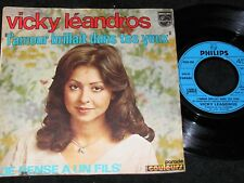 VICKY LEANDROS L'amour brillait dans tes yeux / 60s French SP PHILIPS 6000080