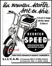 Publicité Scooter SPEED photo vintage print ad  1951 -9i