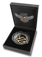 Harley-Davidson 115th Anniversary Collectors Medallion & Leather Box Set 8008352